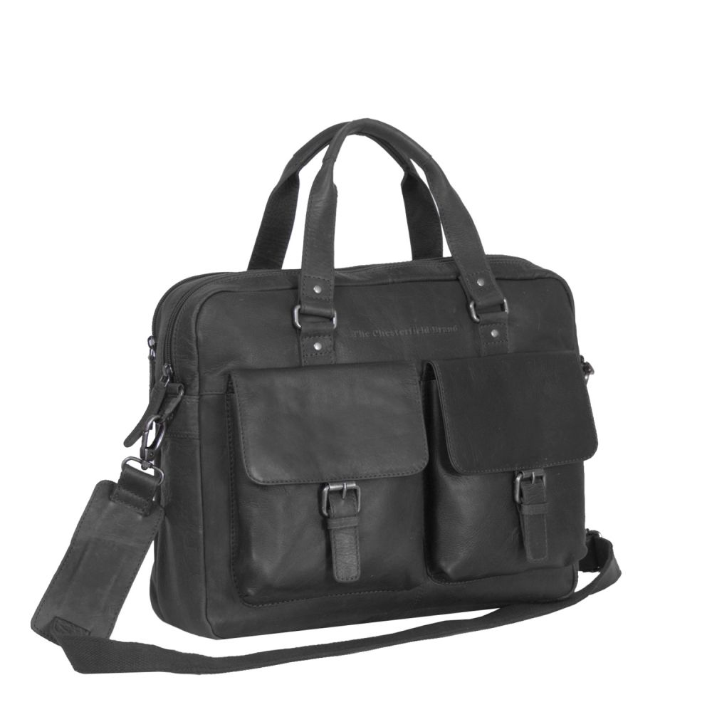 The Chesterfield Brand Dylan Laptoptasche Black Laptoptasche