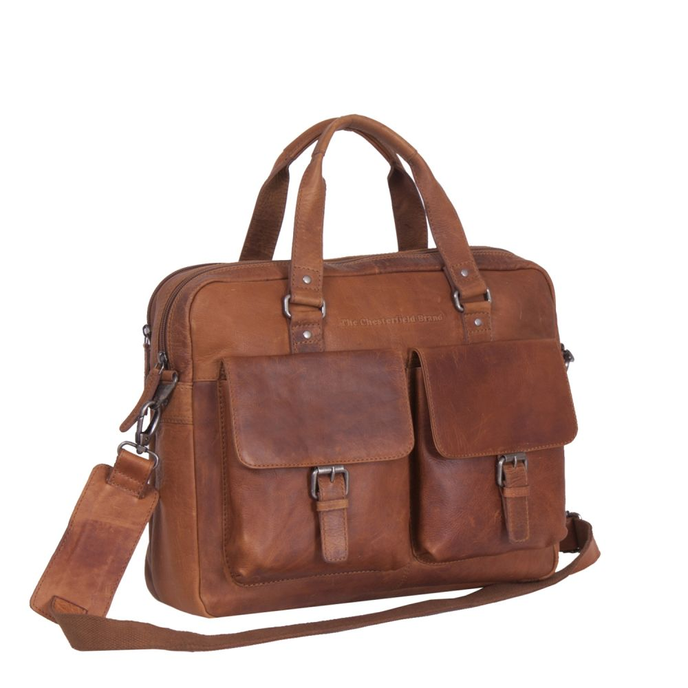 The Chesterfield Brand Laptoptasche Cognac Handgepäck/Laptoptasche/Laptoptasche