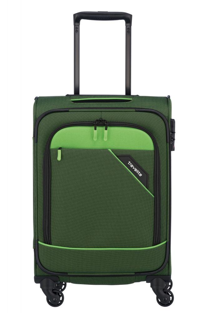 Travelite Derby 4w Trolley S grün 87547-80 Koffer mit 4 Rollen/Koffer mit 4 Rollen Hüfttasche/Koffer/Koffer