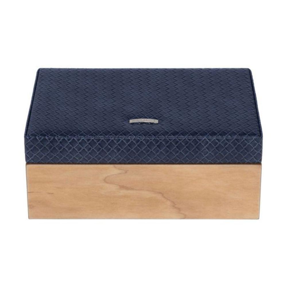 Windrose Wood Schmuckkasten Blau Handgepäck/Schmuckkassette/Schmuckkassette