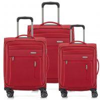 Travelite Capri Kofferset 4w L erw./M erw./S, Bordtasche, rot