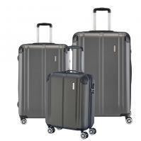 Travelite City Kofferset 3-tlg. 4w L/M/S Anthrazit