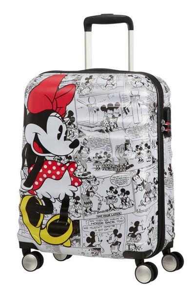 American Tourister Wavebreaker Disney Comics Spinner 55/20 Disney Minnie Comics White