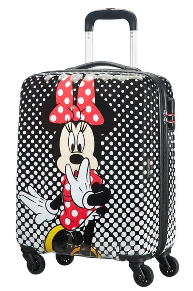 American Tourister Disney Legends Spinner 55/20 Alfatwist 2.0 Minnie Mouse Polka Dot