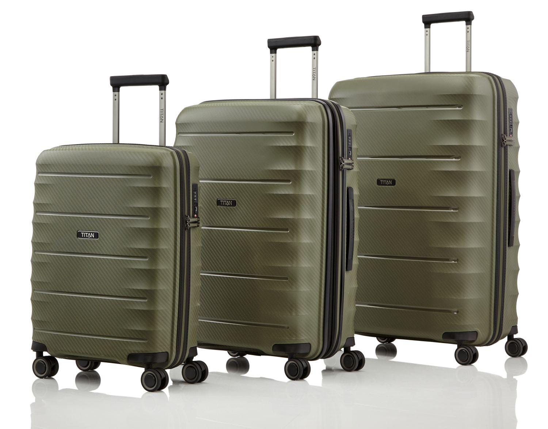 titan highlight kofferset 3 teilig khaki kofferexpress 24. Black Bedroom Furniture Sets. Home Design Ideas