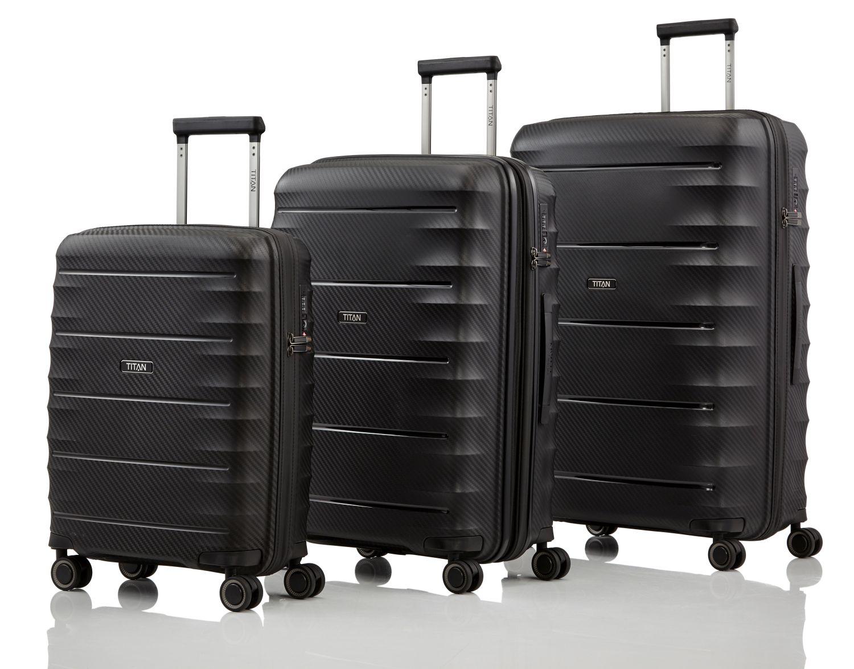 titan highlight kofferset 3 teilig black kofferexpress 24. Black Bedroom Furniture Sets. Home Design Ideas