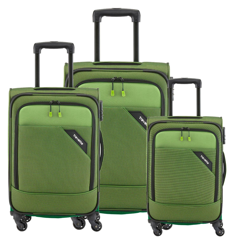 travelite derby kofferset 4 tlg gr n kofferexpress 24. Black Bedroom Furniture Sets. Home Design Ideas