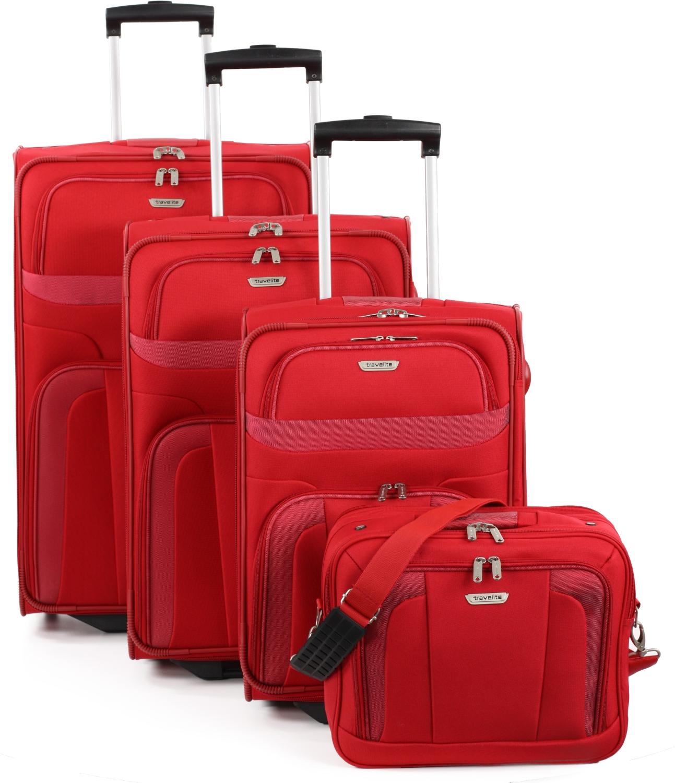 travelite orlando kofferset 4 tlg rot kofferexpress 24. Black Bedroom Furniture Sets. Home Design Ideas
