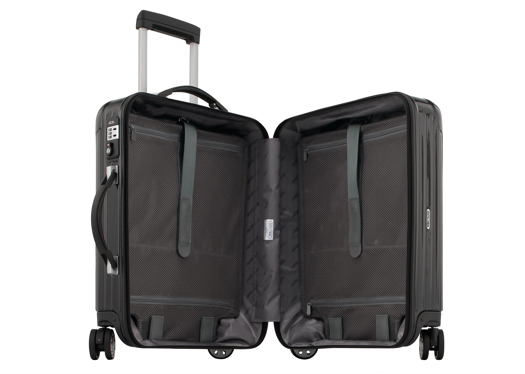 rimowa salsa deluxe cabin multiwheel trolley 56 schwarz koffer trolleys. Black Bedroom Furniture Sets. Home Design Ideas