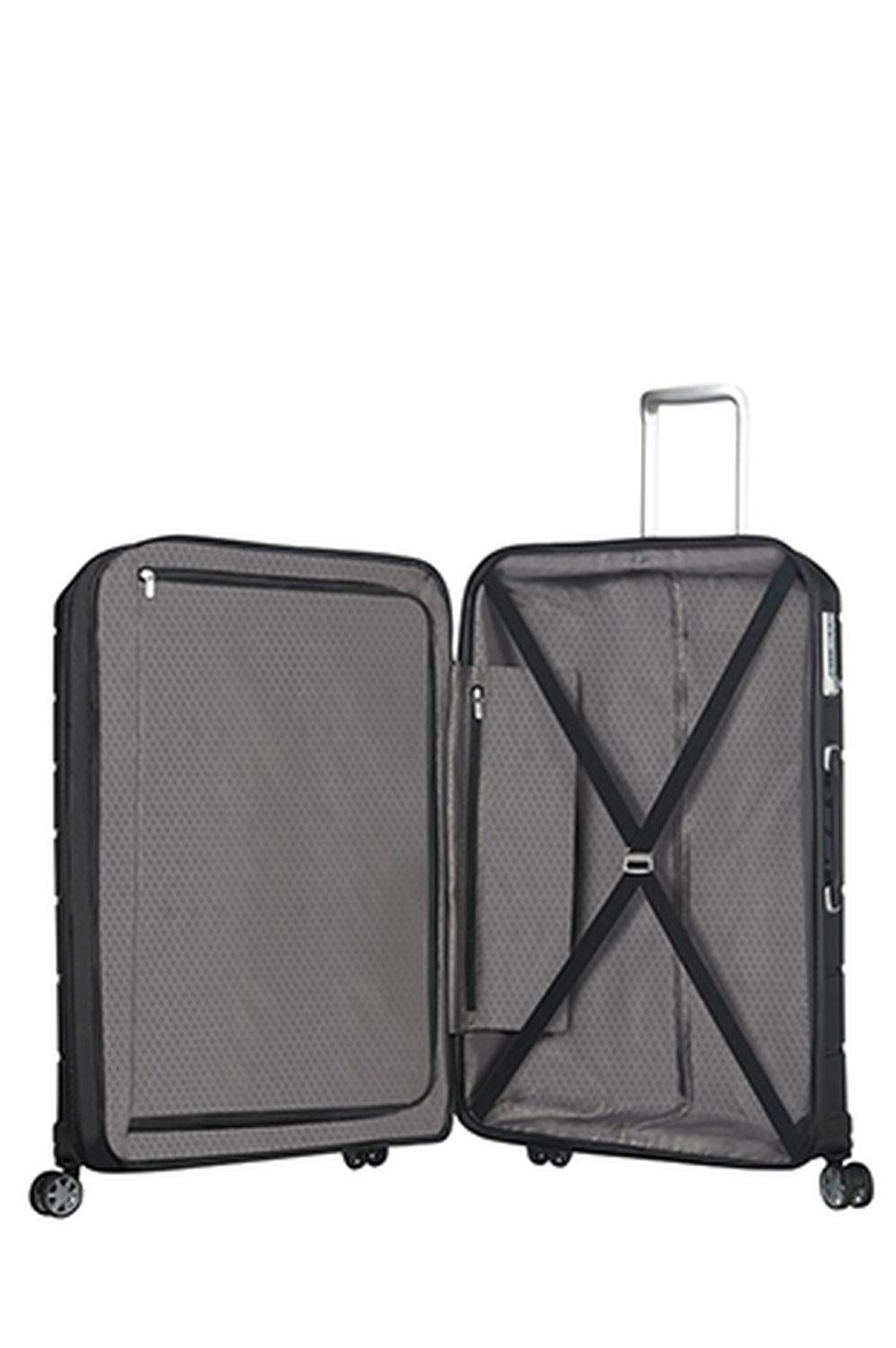 samsonite flux spinner 75 28 exp black kofferexpress 24. Black Bedroom Furniture Sets. Home Design Ideas